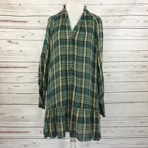 Free People Red Moon Dress Green Size XS/TP